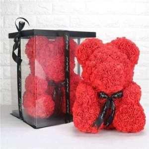 Ursulet floral rosu