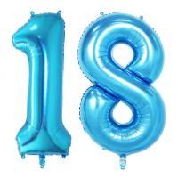 baloane 18 ani bleu