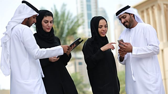Business Men And Women From The Middle East Who Want To Buy Bitcoin In Dubai