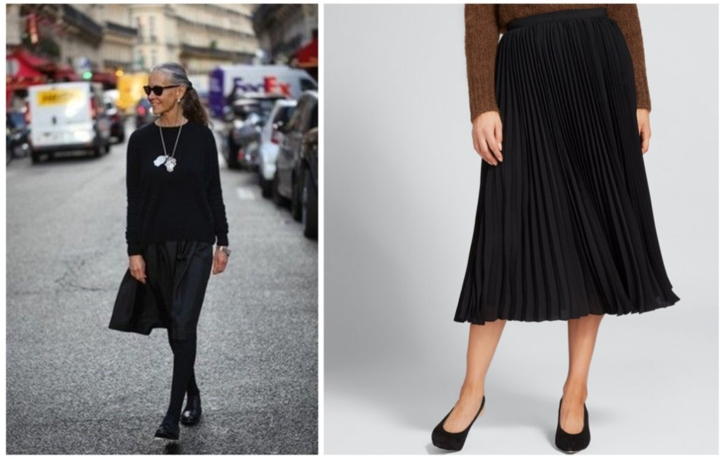 How to wear a pleated skirt