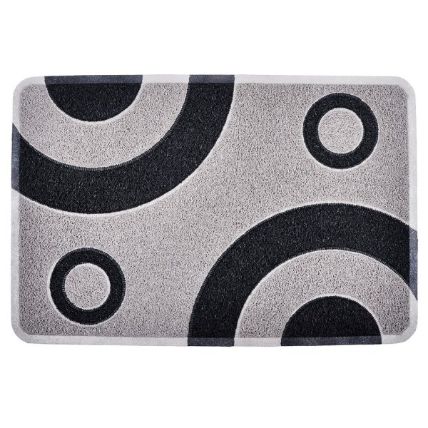 BULLSEYE-SILVER-GREY-BLACK-BATH-RUG-AND-MAT-WHITE-BG