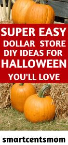 easy dollar store diy decor for halloween