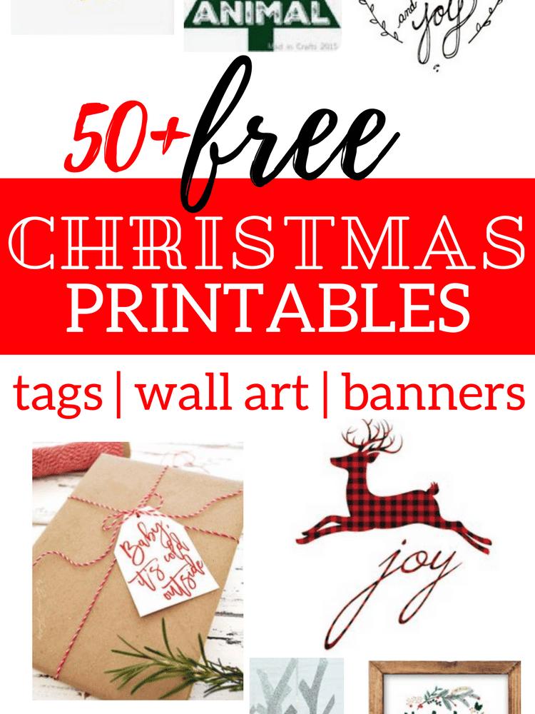 free christmas printables, free christmas printable gift tags, free christmas printable banners, free christmas printable wall art