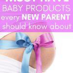 These must have baby products literally changed my life. It's a surprising list that I have curated after having 3 babies. As a new parent it's hard to know what you actually need, but these baby products are the ones I couldn't live without! #babyproducts #pregnancy #babyboy #babygirl #newborns