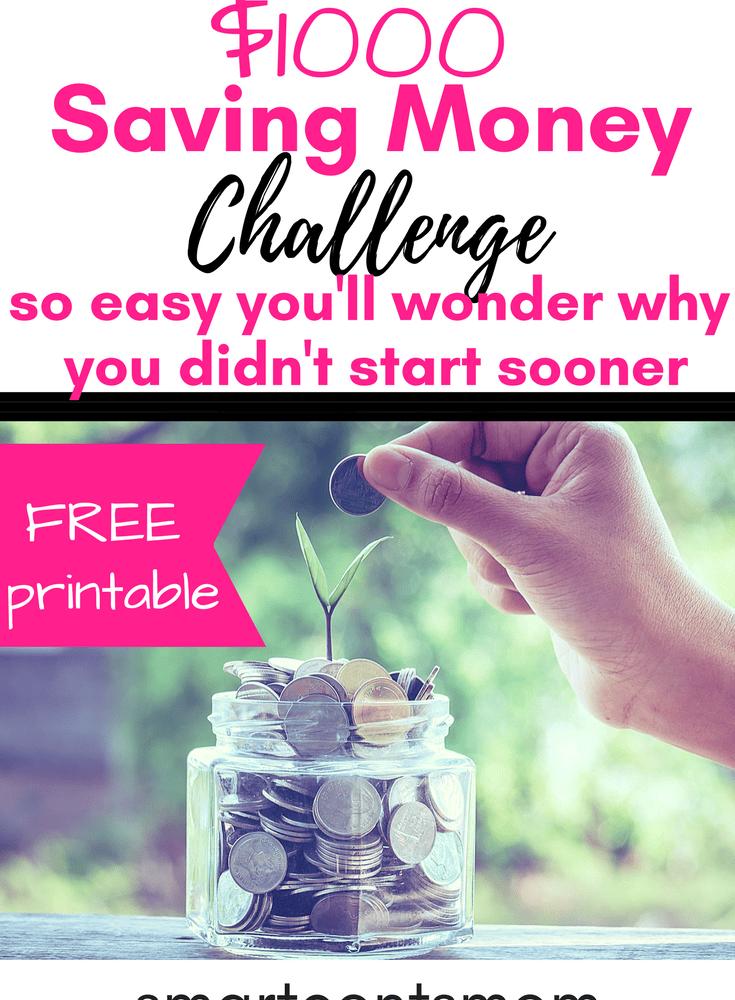 26 Week Money Challenge Free Printable 2019 Smart
