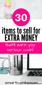 Items to sell online and make quick cash?! YASSS! I totally needed this list. I didn't realize there are so many ways to make quick cash from home. There are great ideas of things to make and sell for profit. Don't miss the (stuff around your house) things to sell online that make money fast!