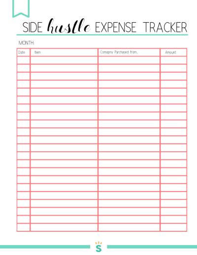 FREE Expense Tracker Printable 2020 for your Home Business or Side Hustle. I was struggling to keep track of all the expenses in my home business, so I decided to write down everything I was spending each month for my business. It helped me to save money and cut costs! Use this weekly and monthly expense tracker to help grow your business or side hustle!