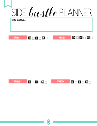 Free Printable Small Business Planner to help you grow your online business while you work at home! You'll get a weekly goals sheet, to do list, and tips to help you track your income, expenses, and goals. The things you keep track of are the things that grow in business! Get started today!
