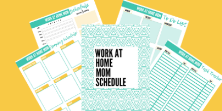 work at home mom schedule and stay at home mom schedule