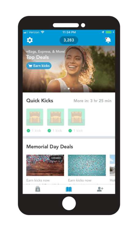 Shopkick invite code to start earning quick kicks with the app.