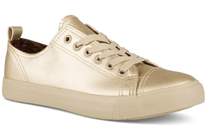 fall fashion must haves metallic sneakers