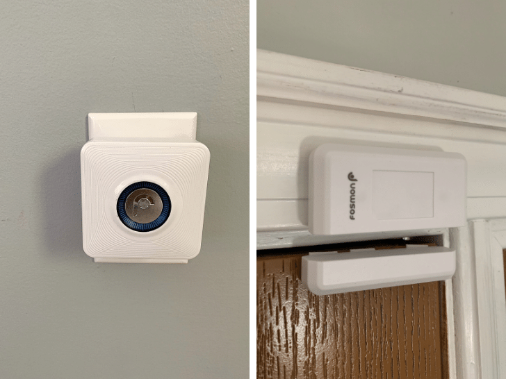 wireless door chime to keep toddler from walking out the front door