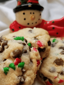 christmas chocolate chip cookies to sell at craft fairs