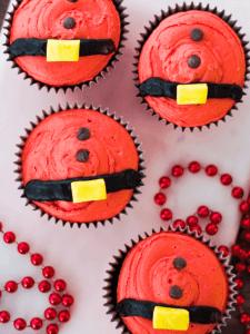 santa cupcakes to sell at craft fairs