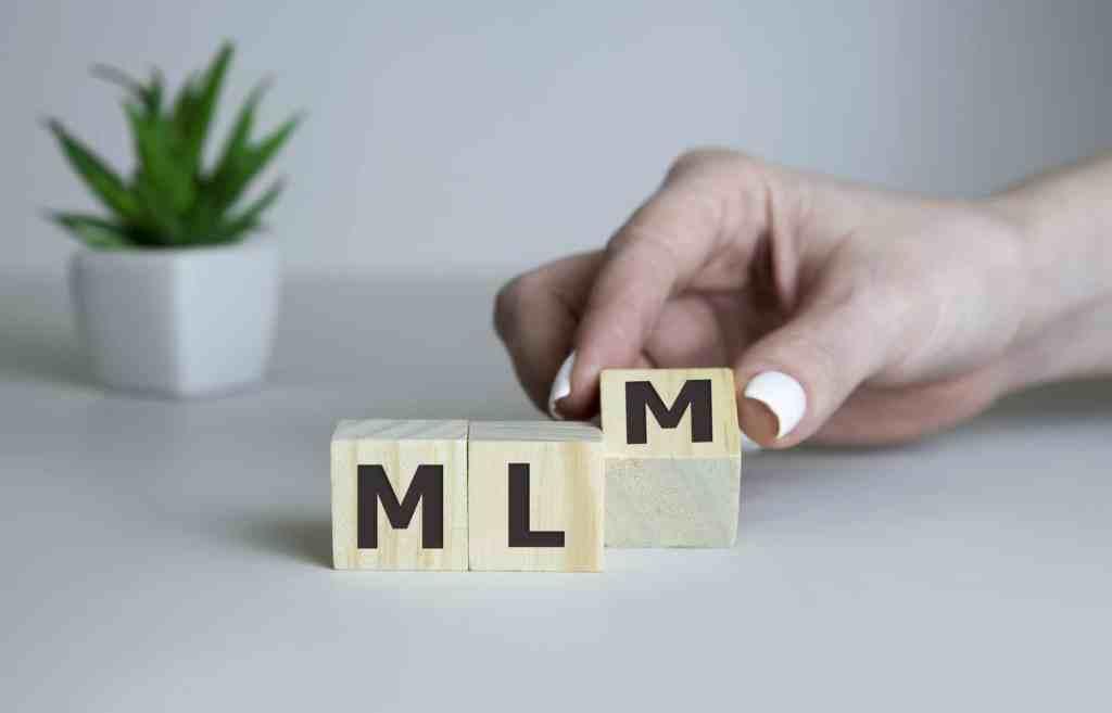 Blocks say MLM.