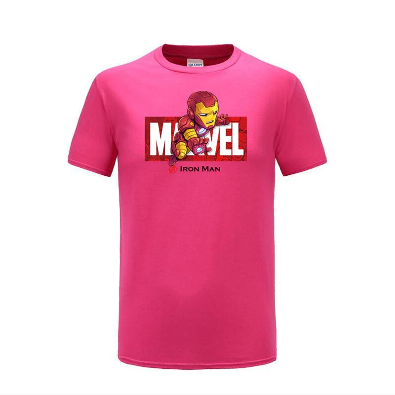 cotton t shirts ironman pink