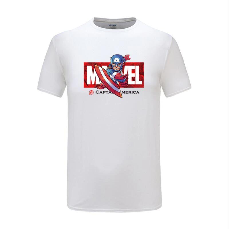 cotton t shirts captain america white