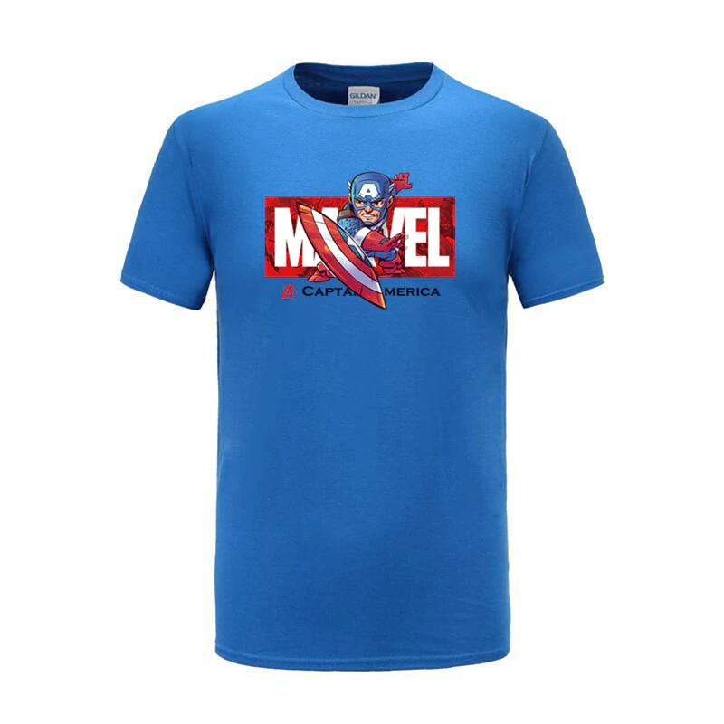 cotton t shirts captain america blue