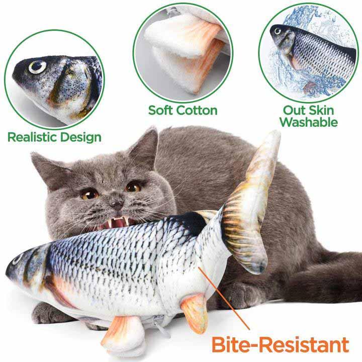 Dancing Fish Catnip Kicker Toy