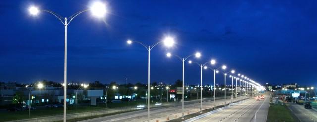 Modern deserted Highway at Night
