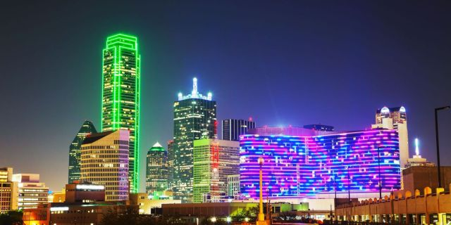 31003368 – dallas, texas cityscape at the night time