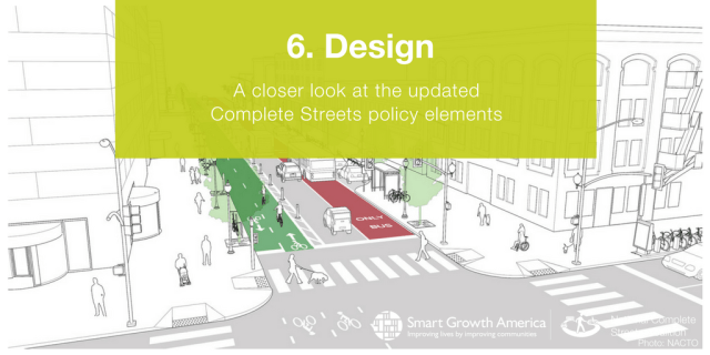 complete streets policy elements #6. DESIGN cover