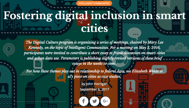 Fostering Digital Inclusion In Smart Cities