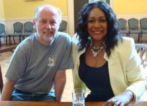 SCT's David Rigby and Mary Wilson of The Supremes