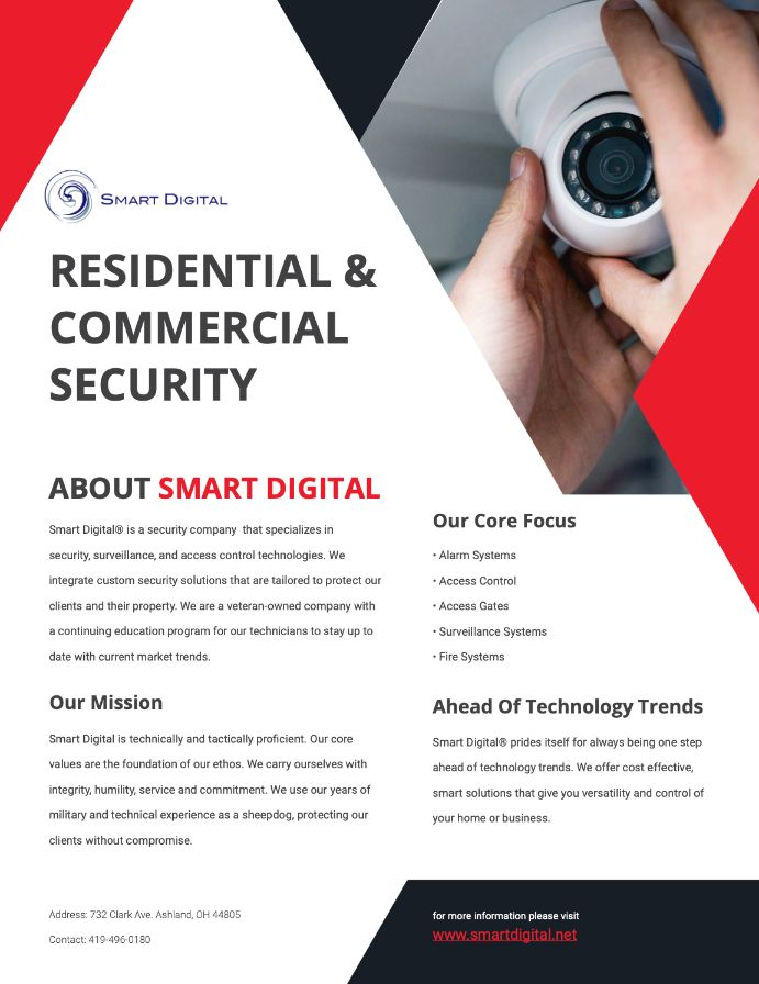commercial and residential security company overview