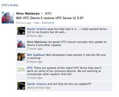 HTC Sense alte Geräte