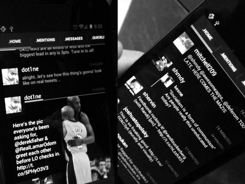 Carbon Android-App Vorschau