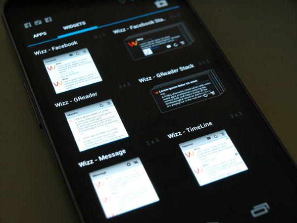 Wizz Widget für Android