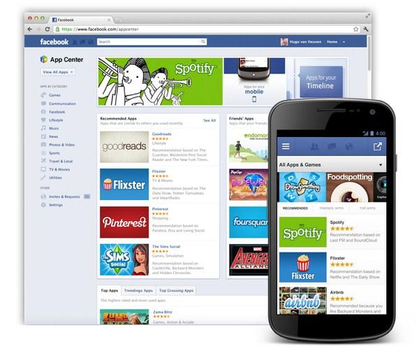 facebook app center