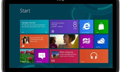HTC Windows 8 Tablet Mockup