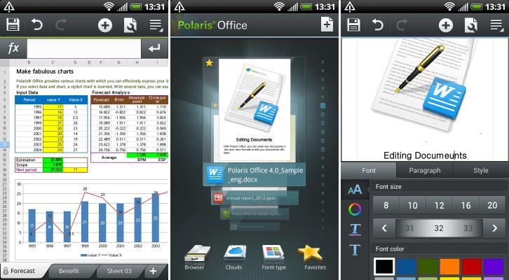 Polaris Office Screenshots