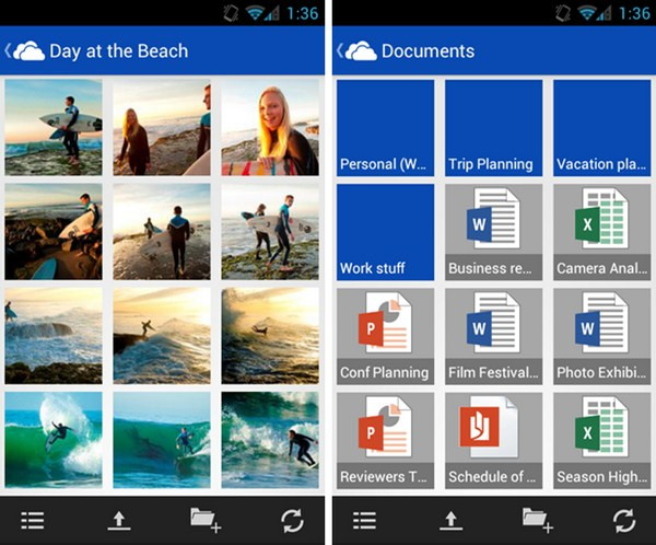 SkyDrive App Android