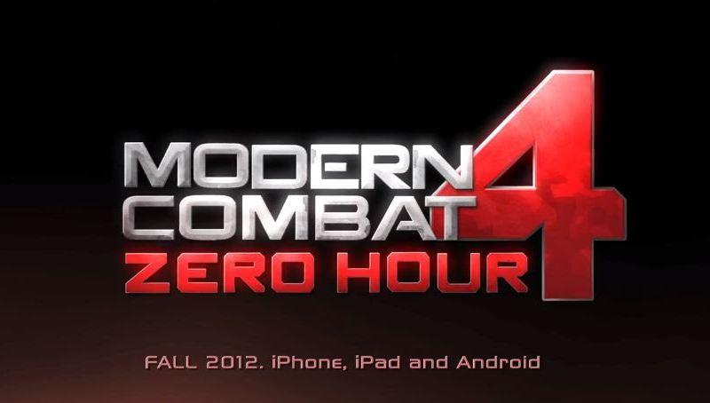 Modern Combat 4 coming soon