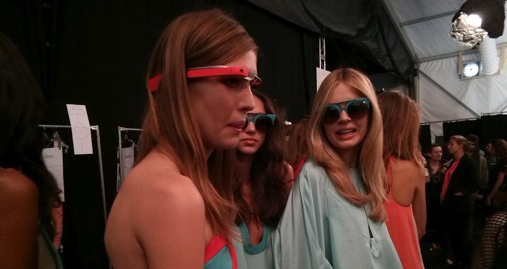nyfw google glasses