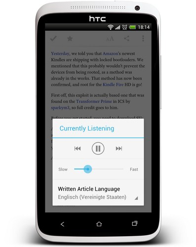 Pocket Sprachausgabe Screenshot