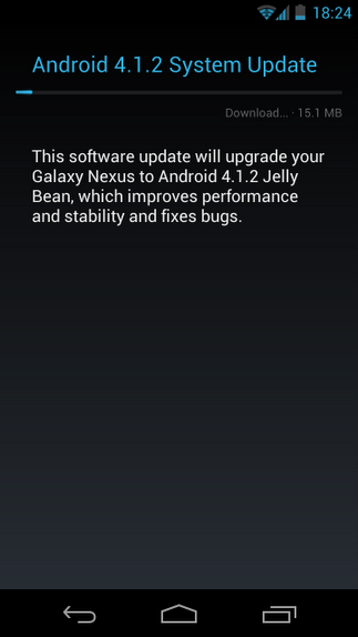 android 4.1.2 galaxy nexus