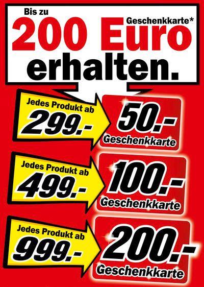 Media Markt Geschenkkarte Aktion