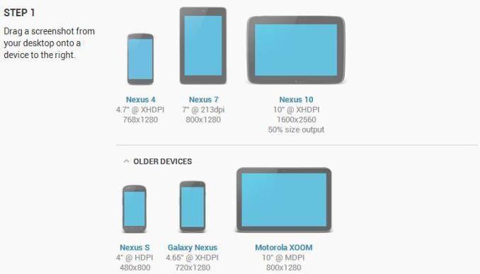 android device generator nexus 4 und nexus 10