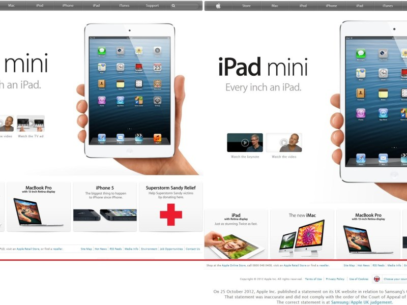 apple-webseite uk und us