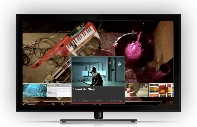Google TV YouTube Screenshot