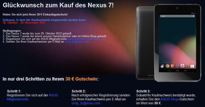 Nexus 7 30 Euro Gutschein Aktion