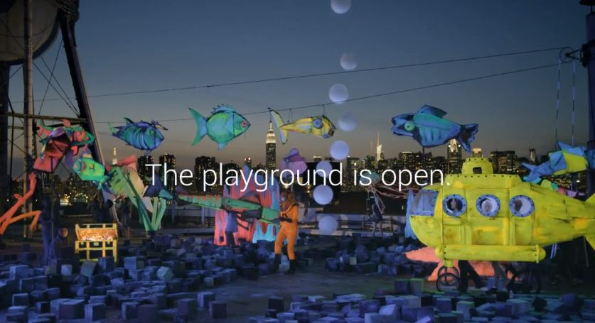 the playground is open