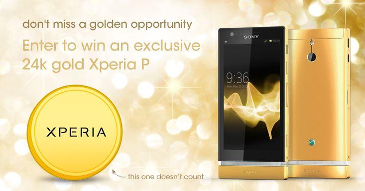 Xperia P Gold Gewinnspiel
