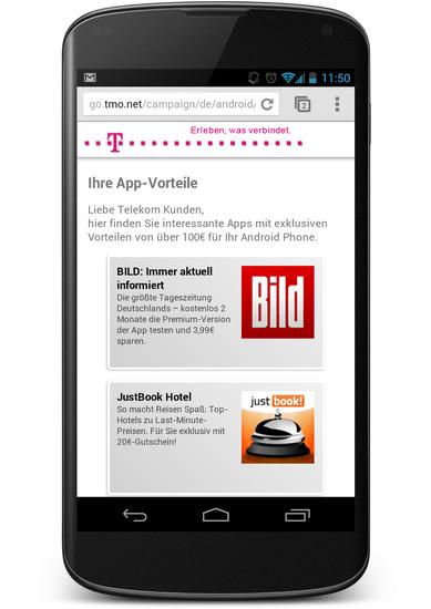 Telekom App-Vorteile