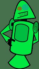 Android-maskottchen-gruen