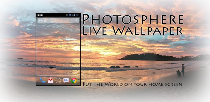 Photo Sphere Live Wallpaper